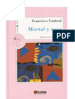 Mortal y rosa, Francisco Umbral