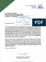 Escrito a la Consejería de Sanidad de Castilla y León