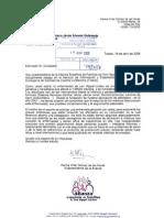 Escrito al consejero de Castilla y León solicitando una entrevista personal
