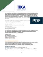 Minnesota BCA Data Inventory Bureau of Criminal Apprehension MGDPA Public Minnesota Government Data Practices Act