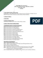 Reorg Council Mtg Agenda 1-2-13