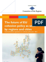 CoR- The future of EU cohesion policy as seen by regions and cities