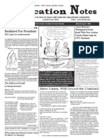 Education Notes, Spring 2004, UFT Election Issue, Vol. 7 No 3