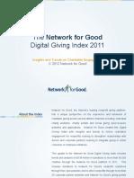 Digital Giving Index 2011