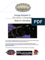 Savage Babylon 5 (Referee's Appendixes)