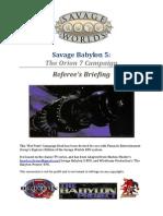 Savage Babylon 5 (Referee's Appendixes)