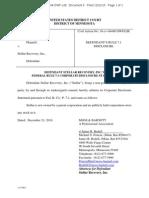 Karzmar v Stellar Rule 7.1 Corporate Disclosure Statement Michael Poncin James Bedell Moss and Barnett