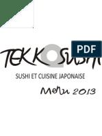 Menu Tekka Sushi