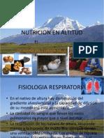 NUTRICIÓN EN ALTITUD