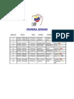 Calendario Oficial Round Robin 2012-2013