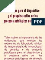 Taller sobre la importancia de las evidencias diagnóstica