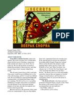 Deepak Chopra - The Book of Secrets