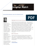 Innovation Watch Newsletter 11.26 - December 29, 2012