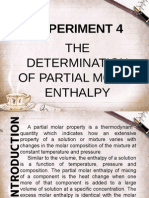 The Determination of Partial Molar Enthalpy
