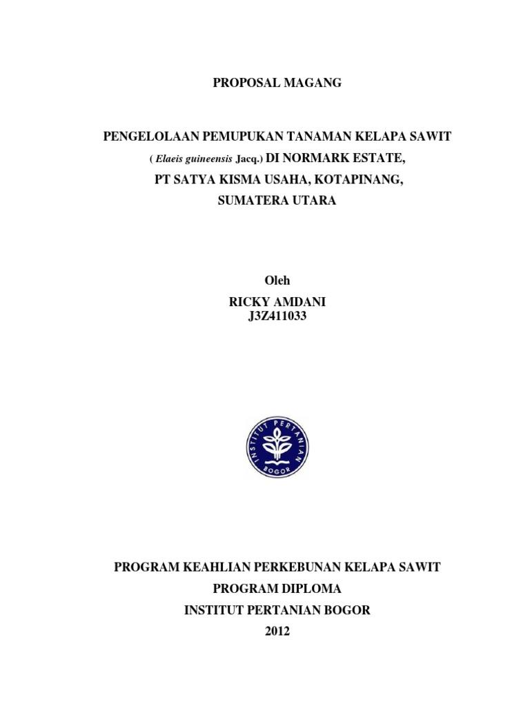 Proposal Magang Ricky Amdani J3z411033