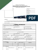 pnp pds form