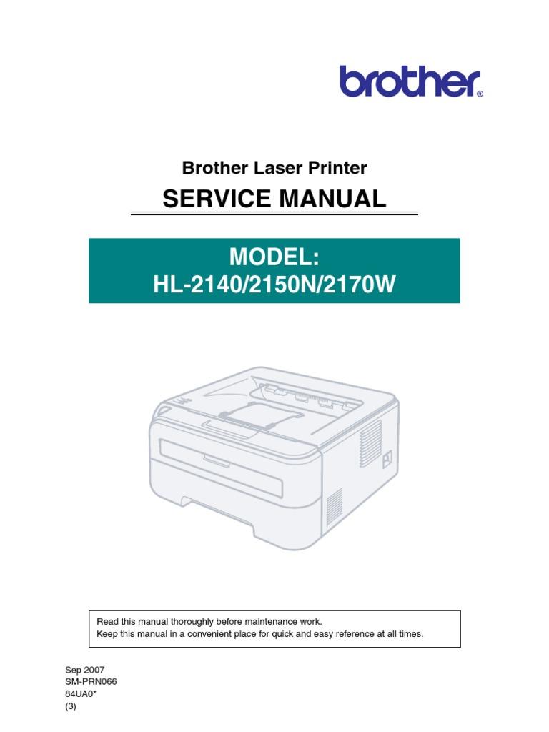 brother hl 2140 hl 2150n hl 2170w service manual electromagnetic rh scribd com brother hl 2170w manual pdf brother hl-2170w wireless setup windows 10