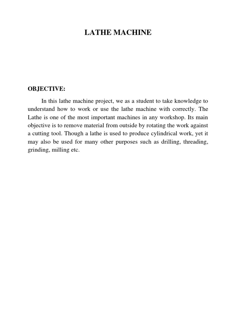 lathe machine pdf file download