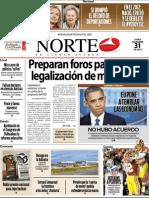 Periodico Norte de Ciudad Juárez 31 de Diciembre de 2012