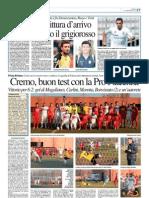 La Provincia Di Cremona 31-12-2012 - Calcio Lega Pro