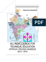 AICTE APPROVAL HANDBOOK FOR A Y 2013-14