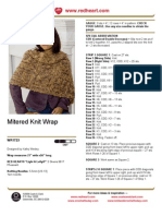 Mitered Knit Wrap
