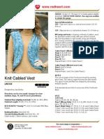 Knit Cabled Vest