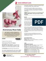 Anniversary Rose Cake