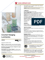 Crochet Hanging Luminaries
