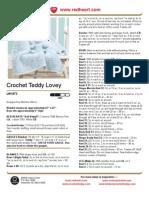 Crochet Teddy Lovey
