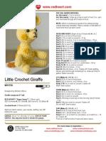 Little Crochet Giraffe