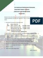Pengumuman PLN Panggilan Tes Penunjang JF UGM Teknik