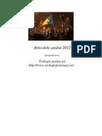 Articolele anului 2012