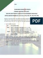 pengumuman PLN Panggilan GAT JF UGM 2012 Jabatan Teknik