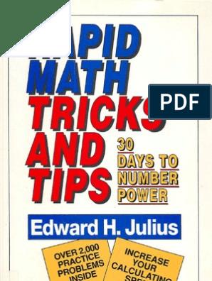 Rapid Math Tricks and Tips  Edward H  Julius | Subtraction