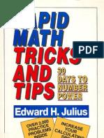 Rapid Math Tricks and Tips. Edward H. Julius