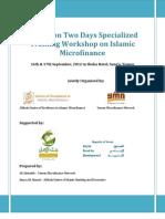 Report - Islamic Microfinance Workshop