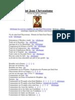 Liste des oeuvres complètes de Saint Jean Chrysostome