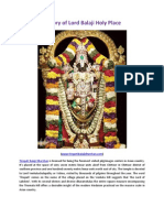 History of Lord Balaji Holy Place