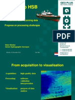 MBES and Laser Scanning Data Progress on Processing Challenges