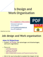 Job Design and Work Organisation
