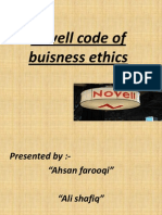 Novell Code of Buisness Ethics