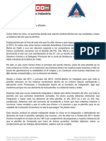 Comunicado Balance 2012 31.12.12
