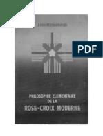 Philosophie Elementaire de la rose-croix moderne