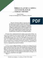 LENGUAJE Y SÍMBOLO- EL § 59 DE LA CRITICA DE LA FACULTAD DE JUZGAR EN VERDAD Y MÉTODO