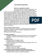 Quantitative Methods for nonprofits
