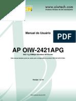 Manual instalação Roteador OIW 2421APG