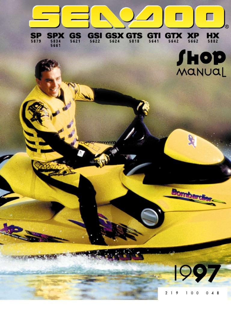 1997 seadoo gtx shop manual carburetor leak rh scribd com 2007 seadoo gti shop manual 2007 Sea-Doo GTI Specs