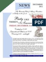 December 2012 UC Newsletter