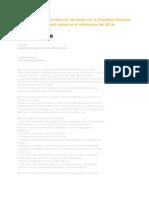 Texto de la nueva Constitución aprobada por la Asamblea Nacional Constituyente que será votada en el referéndum del 28 de septiembre próximo